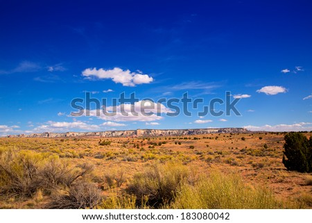 Arizona desert on US 89 in a sunny day USA - stock photo
