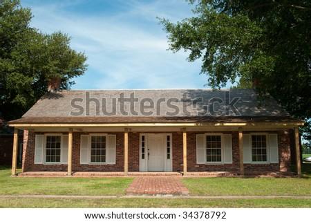 Arkansas Post National Memorial building - stock photo