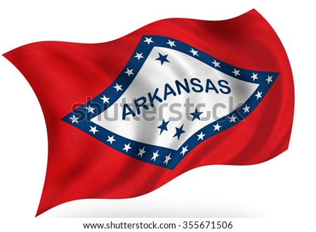 Arkansas (USA)  flag, isolated - stock photo