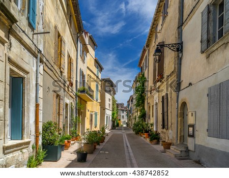 Arles in the Bouches du Rhone Provence - stock photo