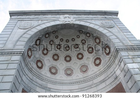 Arlington Cemetery Memorial, Memorial at the Entrance, Virginia - stock photo