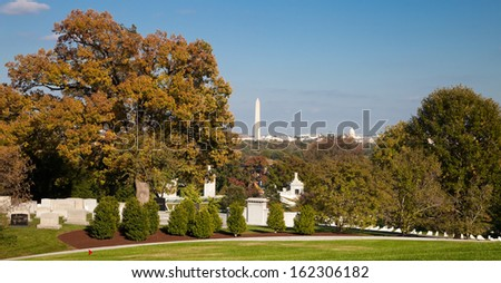 Arlington National Cemetery in Washington DC - stock photo