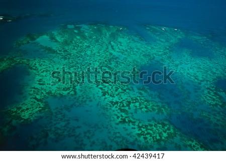 Arlington Reef Aerial View Great Barrier Reef Marine Park - stock photo