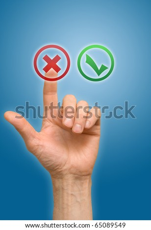 arm press on button - stock photo