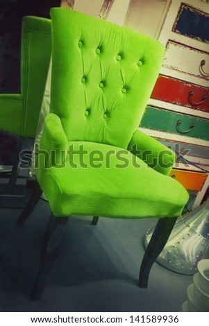 Armchair in a furniture store - stock photo