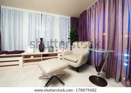 armchair in a modern living interior - stock photo