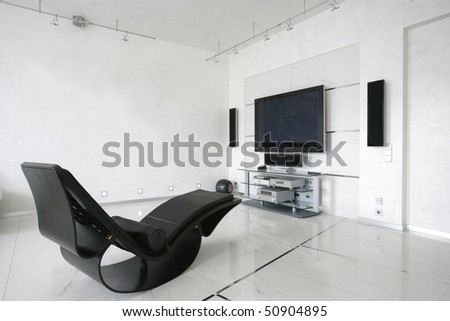 armchair in living room - stock photo