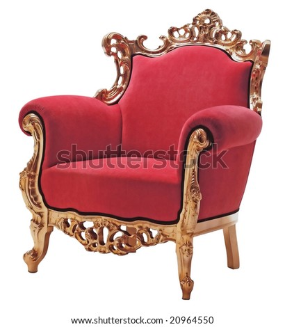 armchair in style of a baroque - stock photo