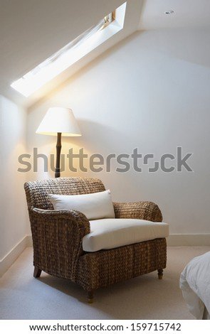 armchair interior - stock photo