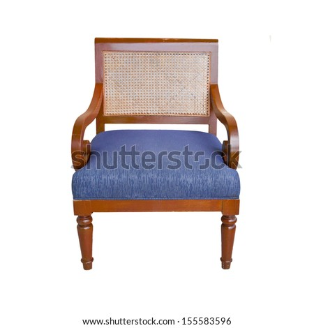 armchair isolated on white background.