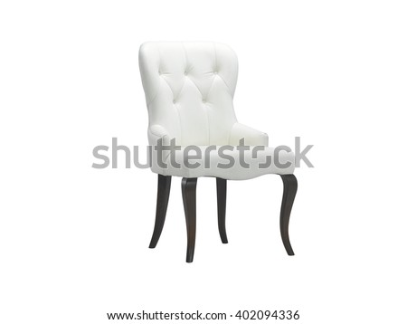 Armchair isolated on white background with clipping mask.