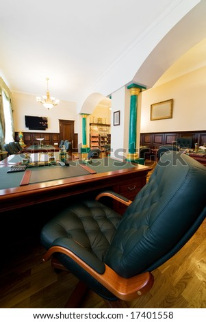 Armchair of director at modern and luxury office - stock photo