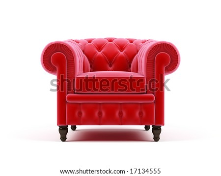 Armchair on a white background - stock photo