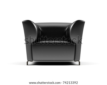 Armchair on a white background. - stock photo