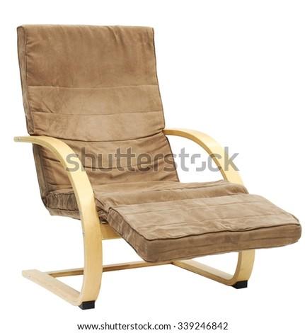 armchair on white background - stock photo