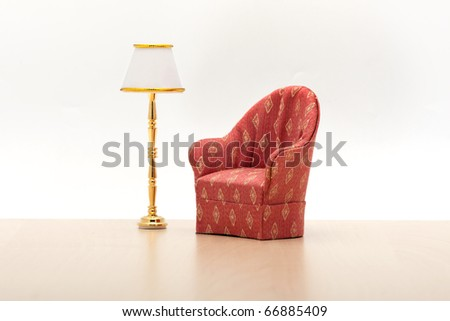 armchair with lamp