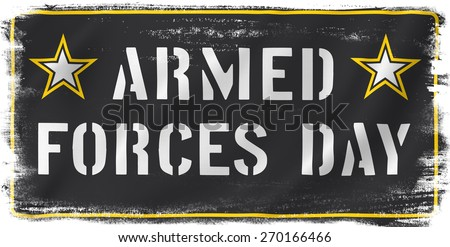 Armed Forces Day USA holiday vertical US Army flag banner.