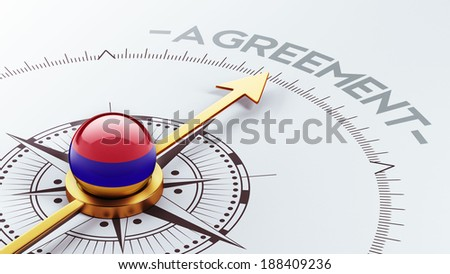 Armenia High Resolution Agreement Concept - stock photo