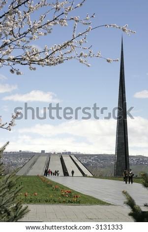Armenian Genocide Memorial complex - stock photo