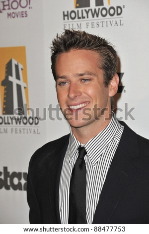Armie Hammer at the 14th Annual Hollywood Awards Gala at the Beverly Hilton Hotel. October 25, 2010  Beverly Hills, CA Picture: Paul Smith / Featureflash