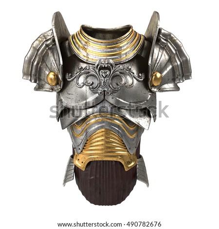 Woman armor 3d illustration isolated on stock illustration 490782631