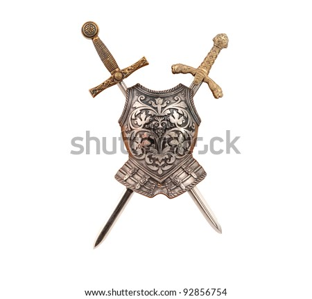 armor isolated on white background - stock photo