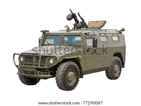Armored Car Tiger isolated on a white background