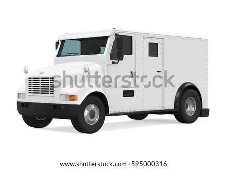 Armored Truck Isolated. 3D rendering