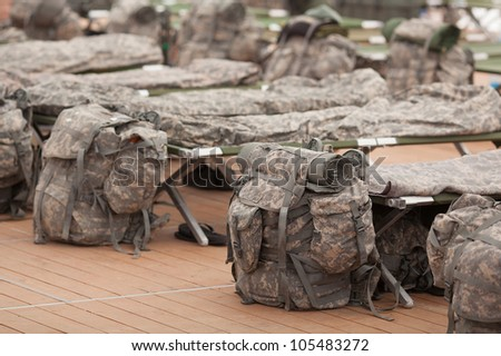 Army bags - stock photo