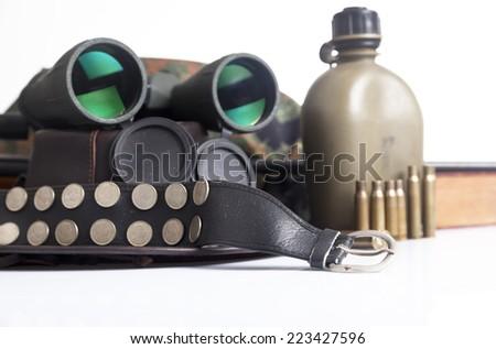 Army equipment - stock photo