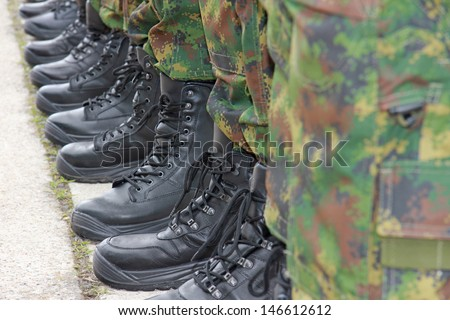Army - Military Boots - stock photo