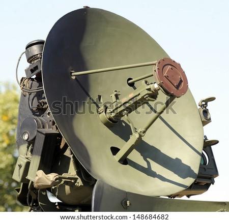 army radar air defense system - stock photo