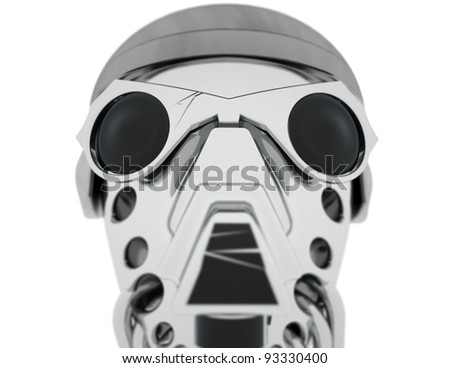 Army robot's head.