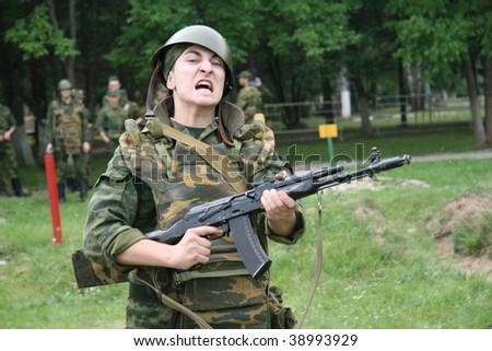Army training - stock photo