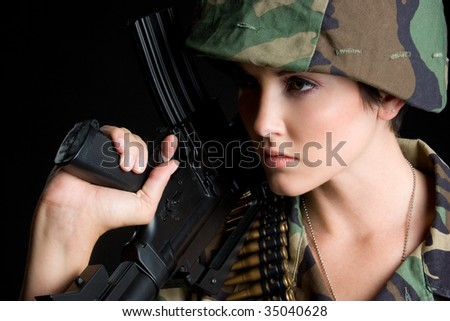 Army Woman - stock photo
