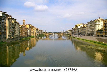 Arno river with bridge