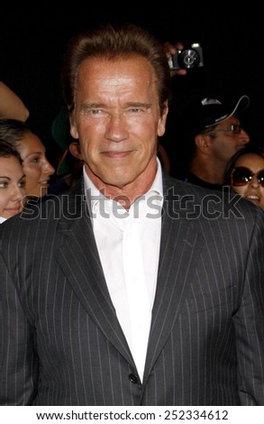 "Arnold Schwarzenegger at the Los Angeles premiere of ""The Expendables 2"" held at the Grauman's Chinese Theatre in Los Angeles, United States on August 15, 2012."