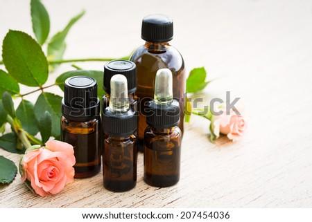 Aromatherapy essential oil - stock photo