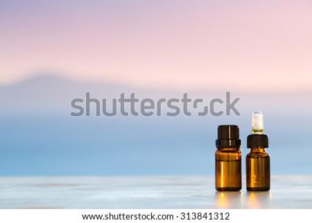Aromatherapy essential oils - stock photo