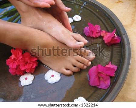 Aromatherapy Foot Bath.
