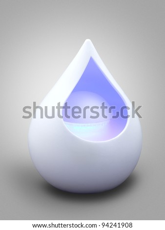 aromatherapy modern diffuser with light - stock photo