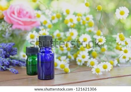 aromatherapy oils - stock photo