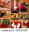 Aromatherapy, spa, pedicure collage - stock photo