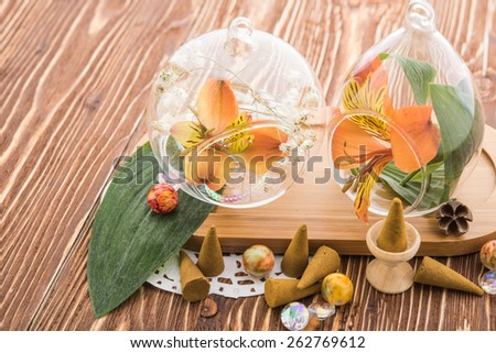 Aromatherapy.Spa stuff - stock photo