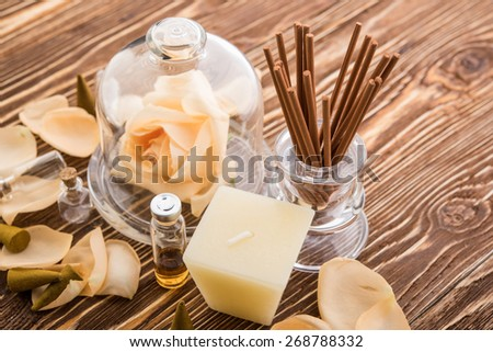 Aromatherapy. Spa stuff - stock photo