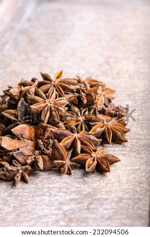 Aromatic anise for seasoning different meals.