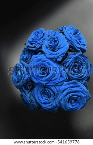 aromatic blue roses bouquet queen flowers stock photo 541659778, Ideas