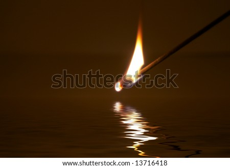 Aromatic stick with aroma of a sandal-wood tree - stock photo