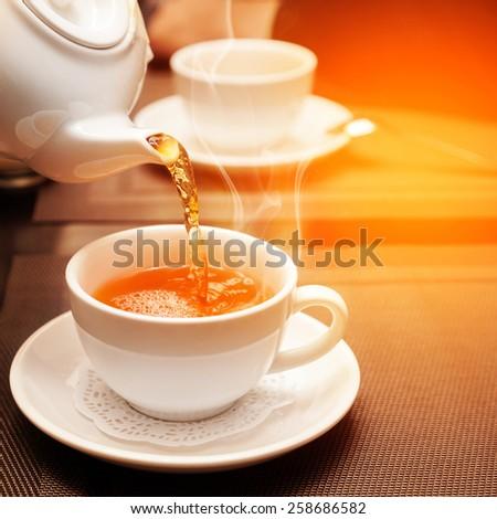 aromatic tea - stock photo