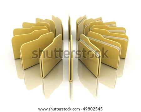 around file, isolated background (done in 3d) - stock photo